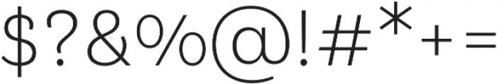 Klainy Light otf (300) Font OTHER CHARS
