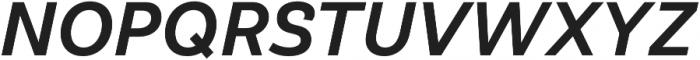 Klainy Medium Italic otf (500) Font UPPERCASE