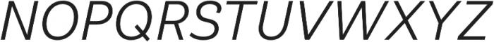 Klainy Regular Italic otf (400) Font UPPERCASE