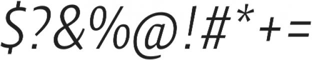 Klaus FY Light Italic otf (300) Font OTHER CHARS