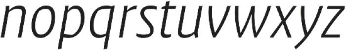 Klaus FY Light Italic otf (300) Font LOWERCASE