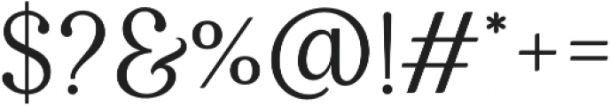Klausen Thicker otf (400) Font OTHER CHARS
