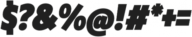 Klein Condensed Black Italic otf (900) Font OTHER CHARS