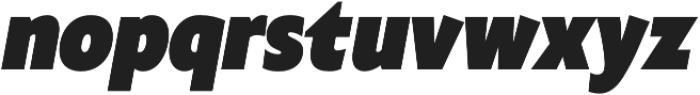 Klein Condensed Black Italic otf (900) Font LOWERCASE