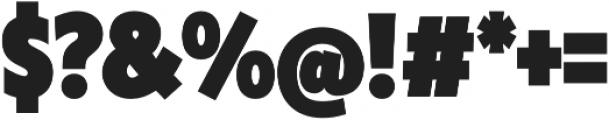 Klein Condensed Black otf (900) Font OTHER CHARS