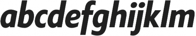 Klein Condensed otf (700) Font LOWERCASE