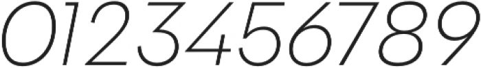 Klik Extralight Italic otf (200) Font OTHER CHARS