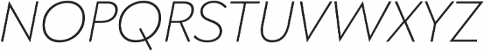 Klik Extralight Italic otf (200) Font UPPERCASE