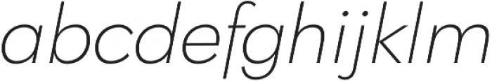 Klik Extralight Italic otf (200) Font LOWERCASE