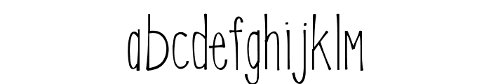 KLEmily Font LOWERCASE