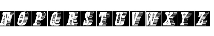 KLettresOmbrees Font LOWERCASE