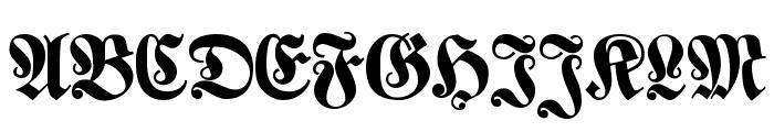 Klaber Fraktur Font UPPERCASE