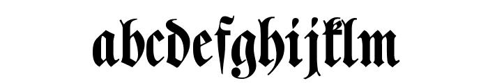 Klaber Fraktur Font LOWERCASE