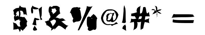 Klaxon Font OTHER CHARS
