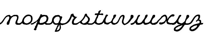 KleeCapScript Font LOWERCASE