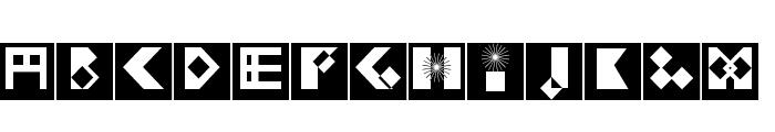 KleinBricksNegative Font LOWERCASE