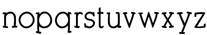 KleinSlabSerifBold Font LOWERCASE