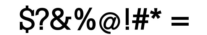 KleinSlabserif-Bold Font OTHER CHARS