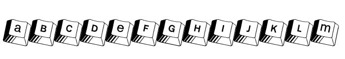 Kleinkeys Font UPPERCASE