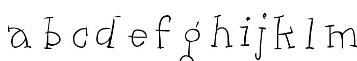 Kleins Dancing Slapzerif Font LOWERCASE