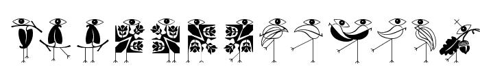 KleinsBirdsNoTen Font LOWERCASE