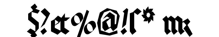 KleinsBrokenGotik Font OTHER CHARS