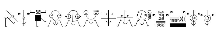 KleinsElectronicJokes Font UPPERCASE