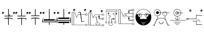 KleinsElectronicJokes Font LOWERCASE