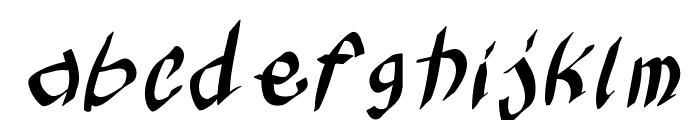 KleinsKruschKursiv Font LOWERCASE