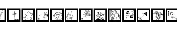 KleinsLittleDings Font LOWERCASE