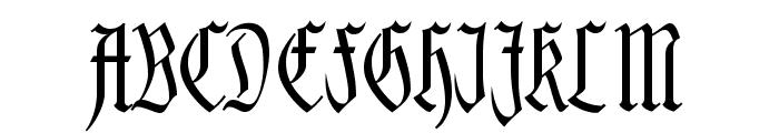Kleinsemmering Font UPPERCASE