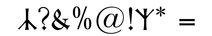 Kleist-Fraktur Zierbuchstaben Font OTHER CHARS