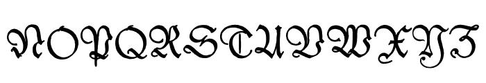 Kleist-Fraktur Zierbuchstaben Font UPPERCASE