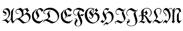 Kleist-Fraktur Font UPPERCASE
