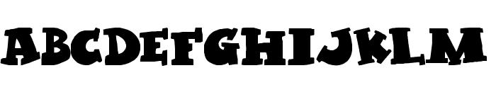 Kleptomaniac Font UPPERCASE