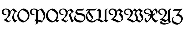 Kleukens-Fraktur Font UPPERCASE