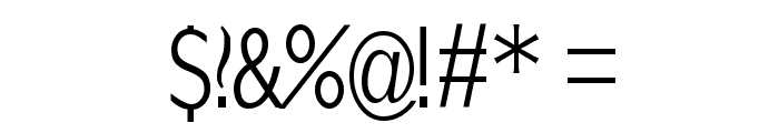 KlillLightCondensed Font OTHER CHARS