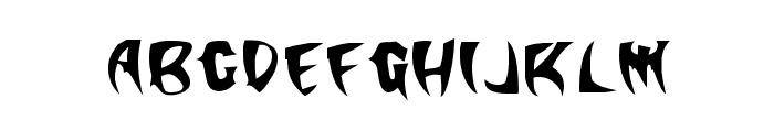 KlingonStilleto Font LOWERCASE