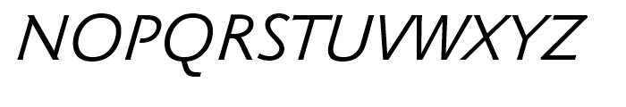 Klassika Book Italic Font UPPERCASE