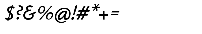 Klassika Medium Italic Font OTHER CHARS
