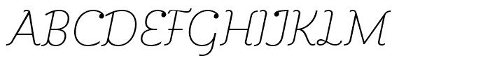 Kleide Thin Italic Font UPPERCASE