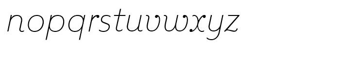 Kleide Thin Italic Font LOWERCASE