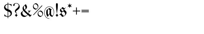 Kleist Fraktur Regular Font OTHER CHARS
