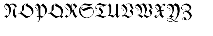 Kleist Fraktur Regular Font UPPERCASE