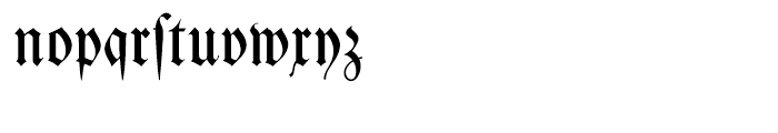 Kleist Fraktur Regular Font LOWERCASE