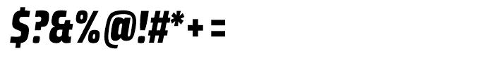 Klint Black Condensed Italic Font OTHER CHARS