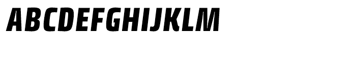Klint Black Condensed Italic Font UPPERCASE