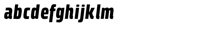 Klint Black Condensed Italic Font LOWERCASE
