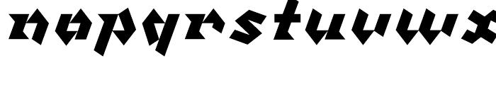 Klute Black Font LOWERCASE