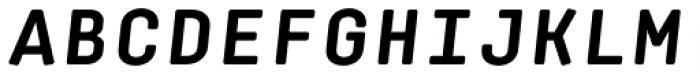 Klamp 105 Mono Bold Oblique Font UPPERCASE